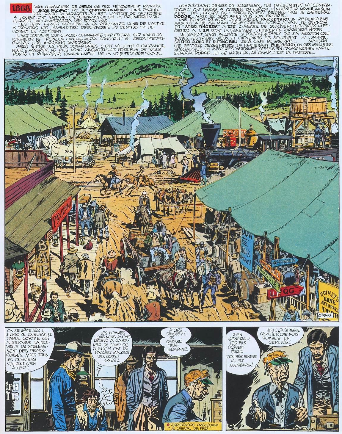 Blueberry, Homme au poing d'acier (L'), CHARLIER/GIRAUD, bd, Dargaud éditeur, bande dessinée