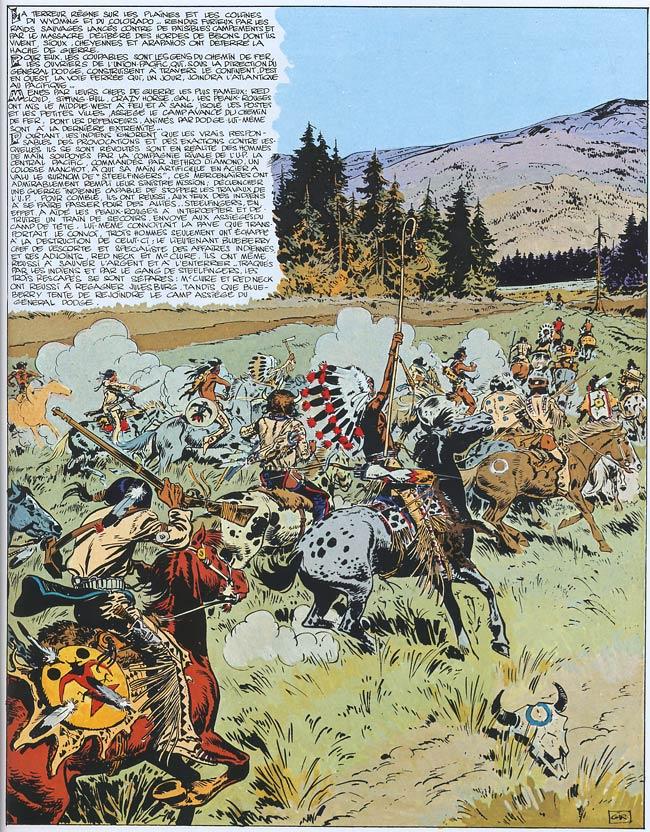 Blueberry, Piste des Sioux (La), CHARLIER/GIRAUD, bd, Dargaud éditeur, bande dessinée