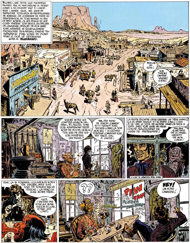 Blueberry, Mine de l'Allemand perdu (La), CHARLIER/GIRAUD, bd, Dargaud éditeur, bande dessinée