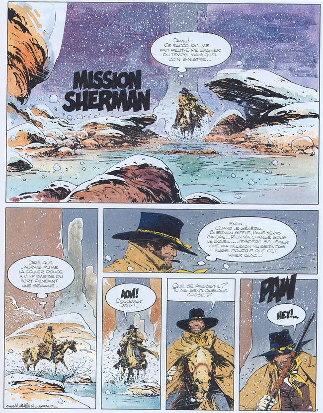 Blueberry, Mission Sherman, GIRAUD/VANCE, bd, Dargaud éditeur, bande dessinée